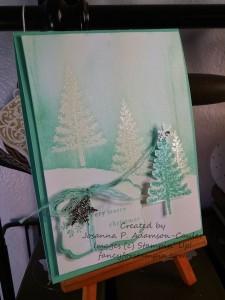 Festival of Trees Emboss Resist - 2