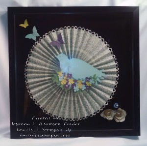 Bird & Rosette Shadow Box