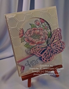 Silver Embossed Butterfly & Rose