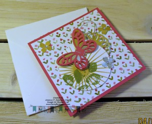 Bold Butterfly & Kinda Eclectic 4 x 4 card with envelope